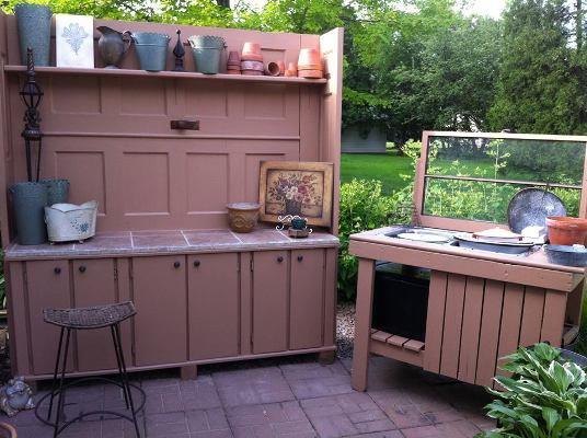 The finished potting area