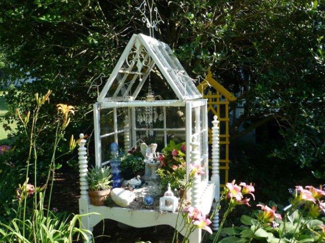 Marlene Kindred's fairy conservatory