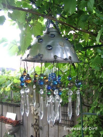 Melissa J Will's chandelier from junk