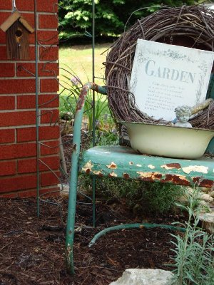 Vintage Metal And Bouncy Motel Chairs In The Garden