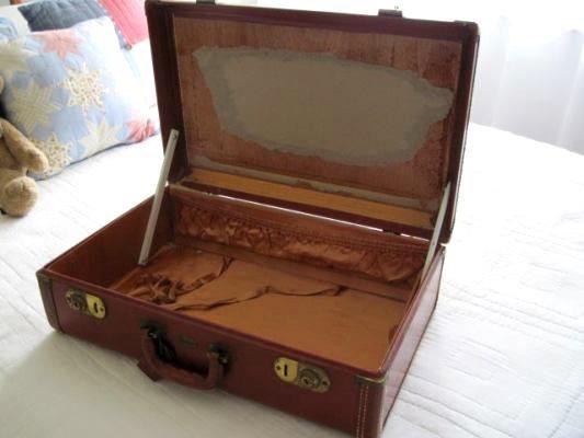 The vintage suitcase