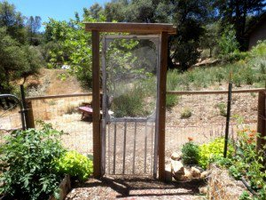 The wonky 'gate.'
