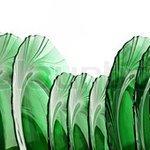 Green glass plates