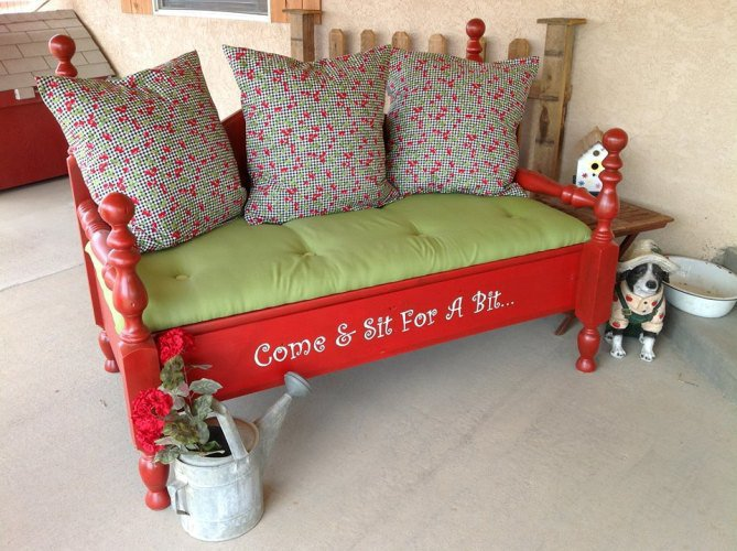 Marvelous New Garden Benches Using Old Salvaged Materials Flea Short Links Chair Design For Home Short Linksinfo