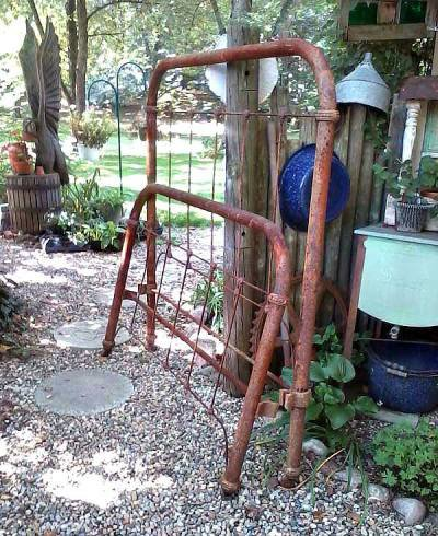 Julie Brown raw materials,....who wouldn't love to frame a garden bed with these?