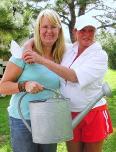 Me and Annie,...and my watering can!