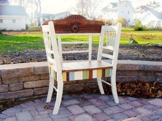 Sandra Hogan' delightful bench from furniture pieces.