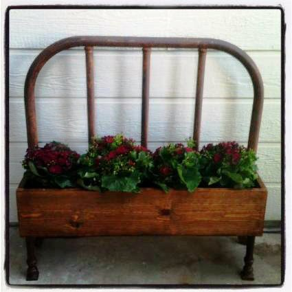 bench made from old bed frame 2