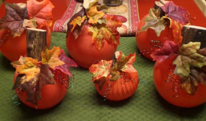 Alice Keiner's version of pumpkin globes