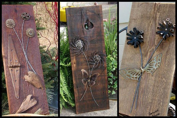 Jeanne 39 s barnwood 39 blooms 39 flea market gardening for Making craft projects from old barn wood