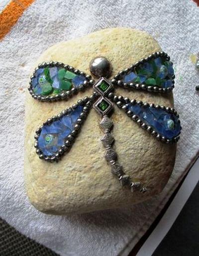 Sue S Rock Star Mosaic Rocks Flea Market Gardening