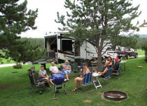 Our camp spot and some of the gang