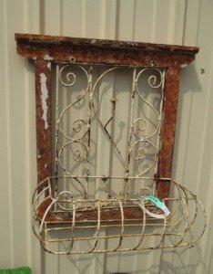 I liked this framed shelf....could I make somethimg like this