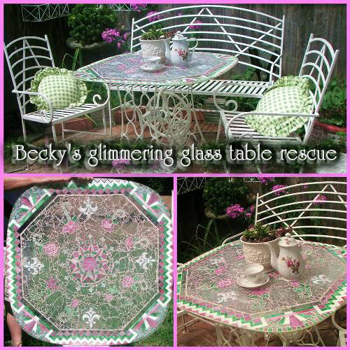 Pin it! Becky's glimmering glass table rescue