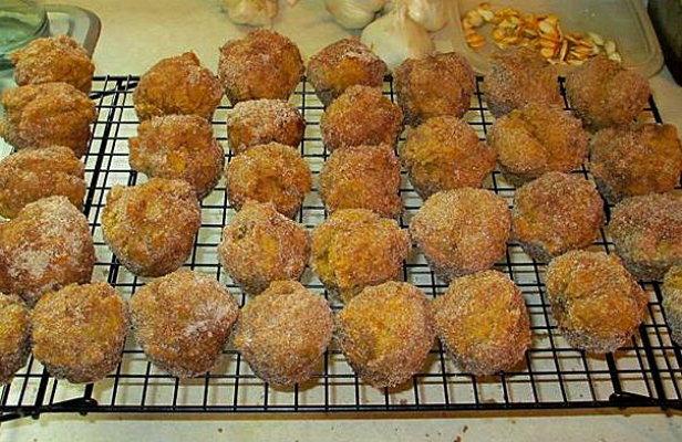 When Sue makes pumpkin globes she likes to make pumpkin muffins, too,...go ahead grab one...