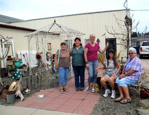 The FMG gang, L to R, Jeanne Sammons, Sue Gerdes, Me.. Sue Langley, Marie Niemann and Nancy K Meyer