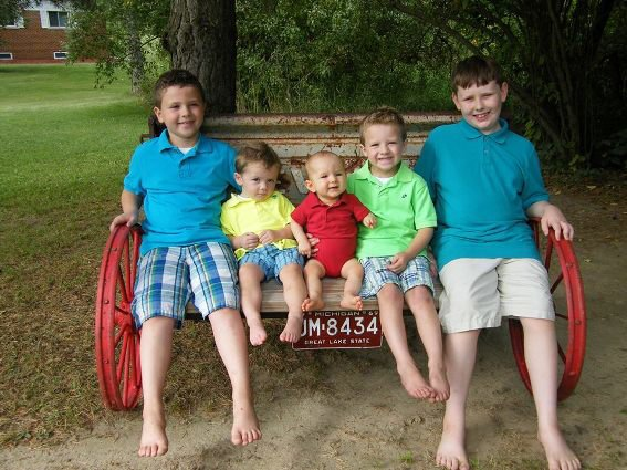My five wonderful grandsons try it out
