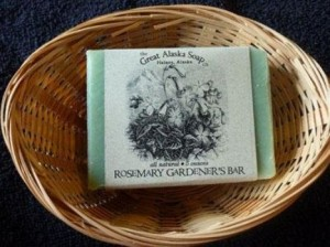 Alaskan rosemary gardener's bar soap