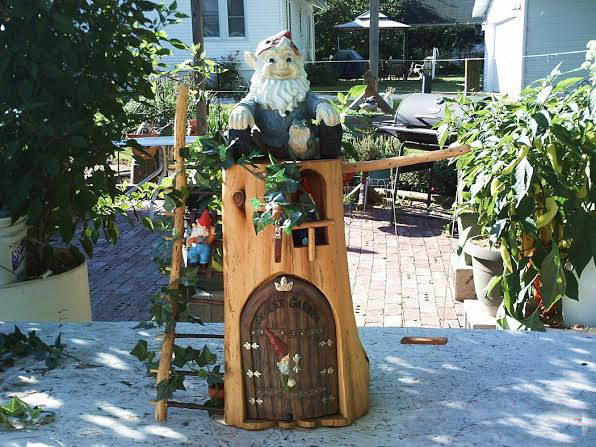 Finished gnome house ready to display