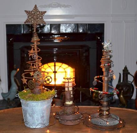 Marie's candles and festive tree