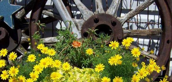 Adding antique rust from the farm to your garden