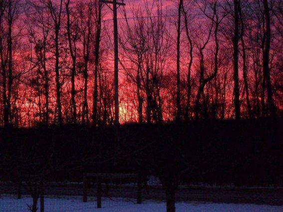 Susie Blair captures a fiery Winter sunset