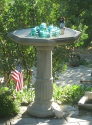 The ordinary and amazing birdbath