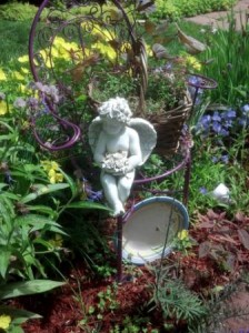 """Debbie Fogal says, """"This is my garden I have in memory of my Dad. liked purple."""""""