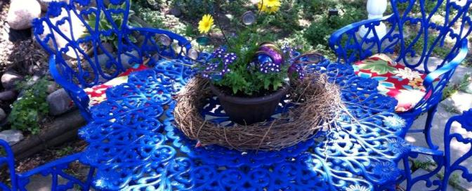 Flea Market furniture fix-up for the garden