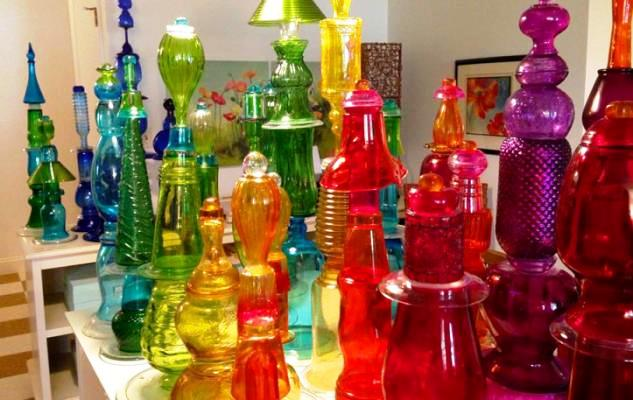 Jane Sharp's dazzling collection of recycled glass for garden projects