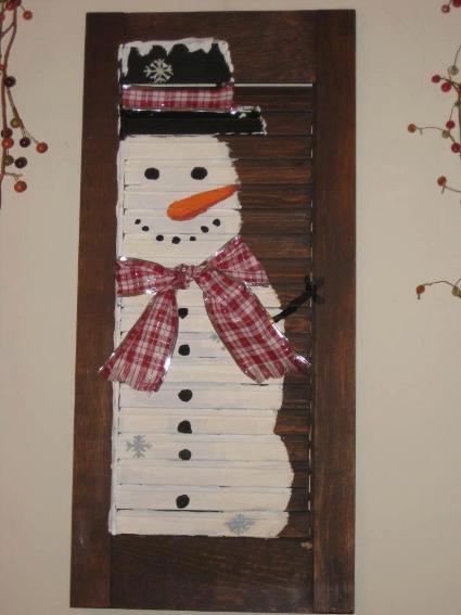 Nell Stelzer's shutter snowman