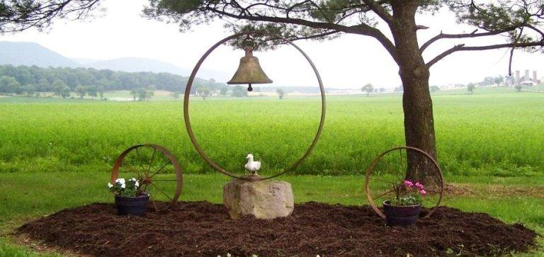 Antique bells in the garden-featured