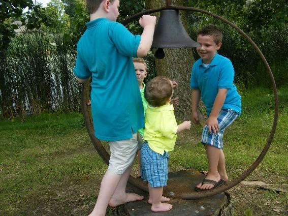 Boys just having fun at Grandma's house
