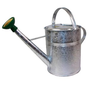 Haws Traditional Peter Rabbit Design Metal Watering Can, 2.3-Gallon, Galvanized