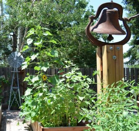 Antique and vintage bells in the garden Flea Market Gardening