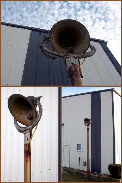 Nancy K. Meyer' authentic post mounted farm bell,...on her farm