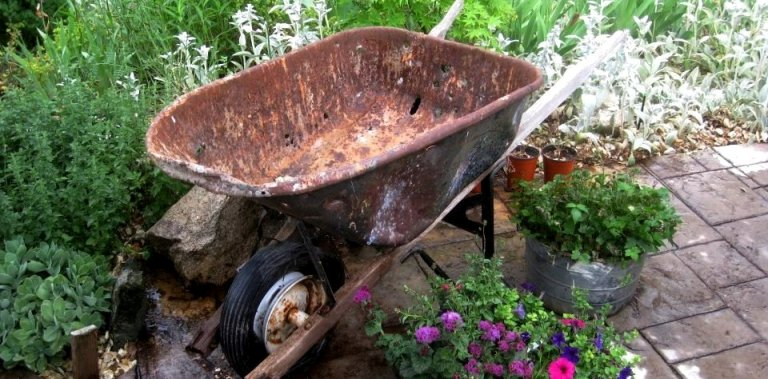 Empty wheelbarrows