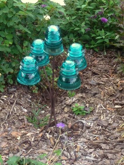 Interesting Glass Insulators Indoors And In The Garden