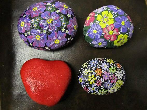 "Ardyth Wuori, ""I grow flowering rocks….people seem to love them so I just keep painting!"""
