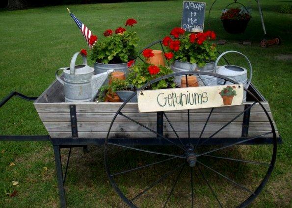 Fun And Flowery Flea Market Flower Carts Gardening. Vintage ...