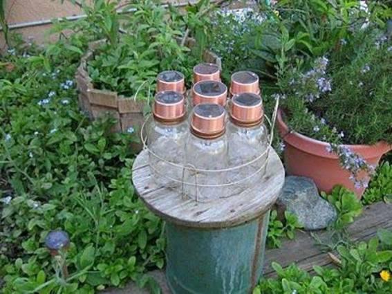Debbie Newton's Mason jar chandy