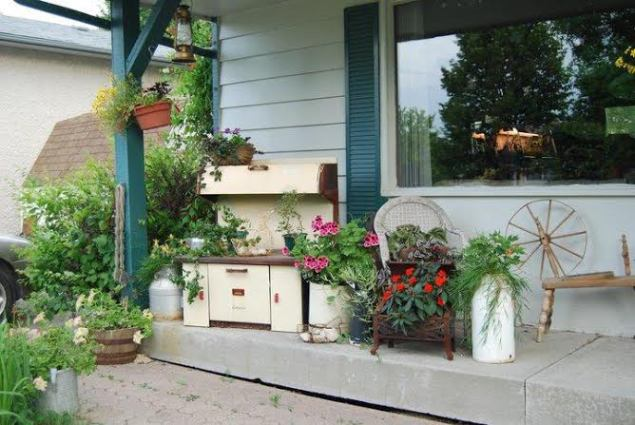 Donna Anderson's porch garden