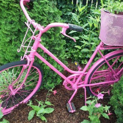 Paint bikes, like Fracine Patterson's, metal toys, and other unique metal items.