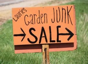 Garden junk sale