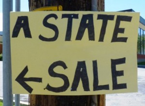 Garage sale signs- A State sale
