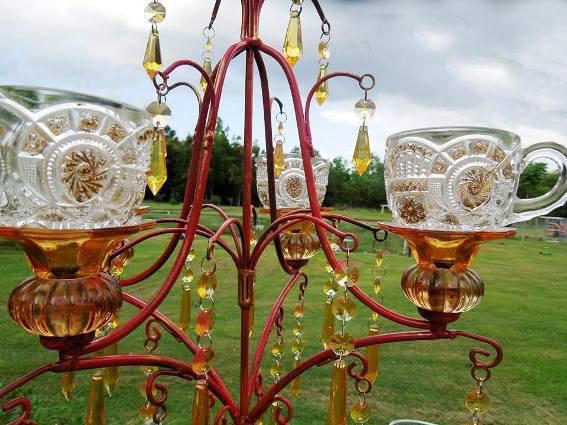 Lorraine Pepper's glittering chandelier