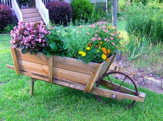 Lynne Mann's inspirational flower cart