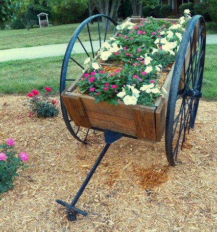 Fun and flowery flea market flower carts flea market for Big hands for gardening