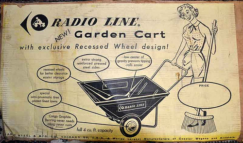 Radio garden cart from the 50s