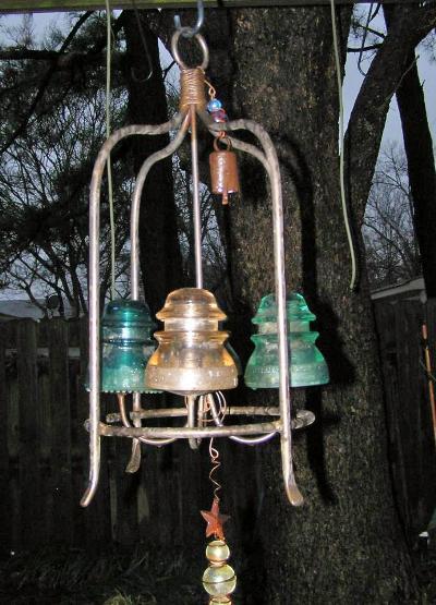 Sydney Minor's insulator chandelier